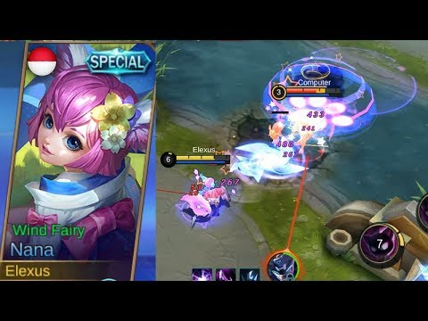 Upcoming Nana Special Skin Wind Fairy Gameplay Mobile Legends Youtube