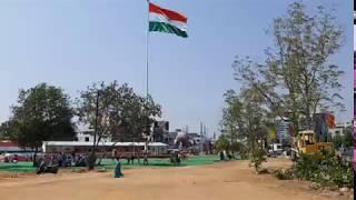 Tallest Indian National Flag Hoisted In Karimnagar 2019