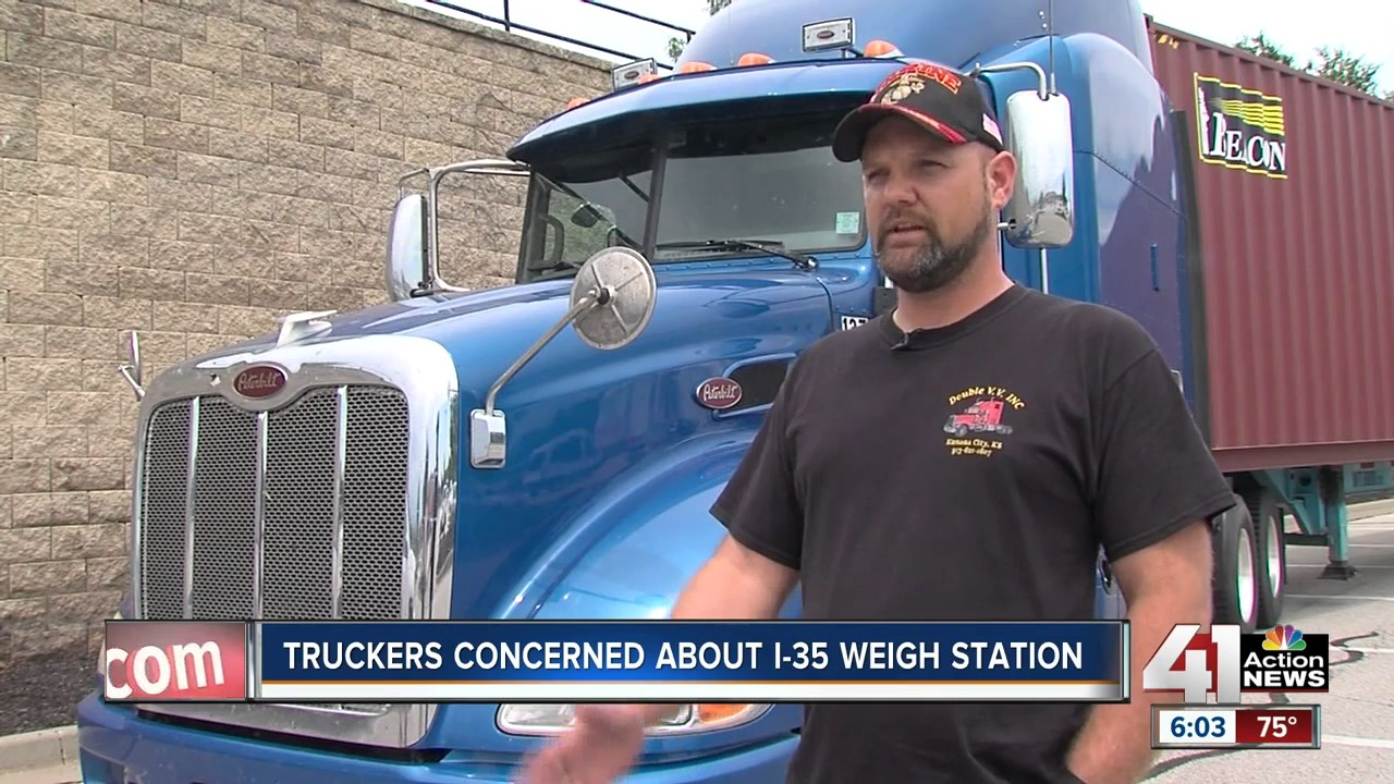 Trucker: weigh station a danger to I-35 drivers
