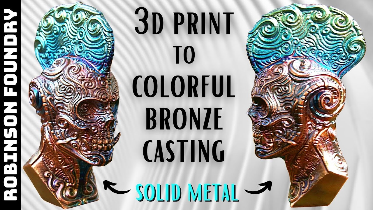 How to turn a 3D PRINT into BRONZE │ Lost PLA Metal Casting