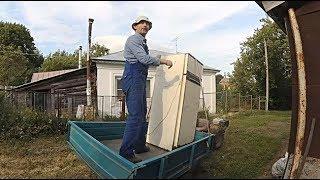 Русские немцы приехали! Перевозим холодильник на мотоблоке и отправляем посылки почтой без очереди.