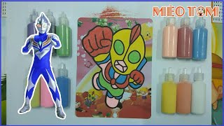 Đồ chơi trẻ em - TÔ MÀU TRANH SIÊU NHÂN ĐIỆN QUANG - Colored sand painting Electrical Superman