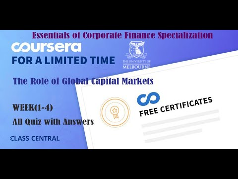 The Role of Global Capital Markets, week (1-4) All Quiz Answers with Assignments.