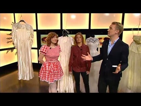 Elsa Billgren om sin kollektion av vintage-brudklänningar - Nyhetsmorgon (TV4)