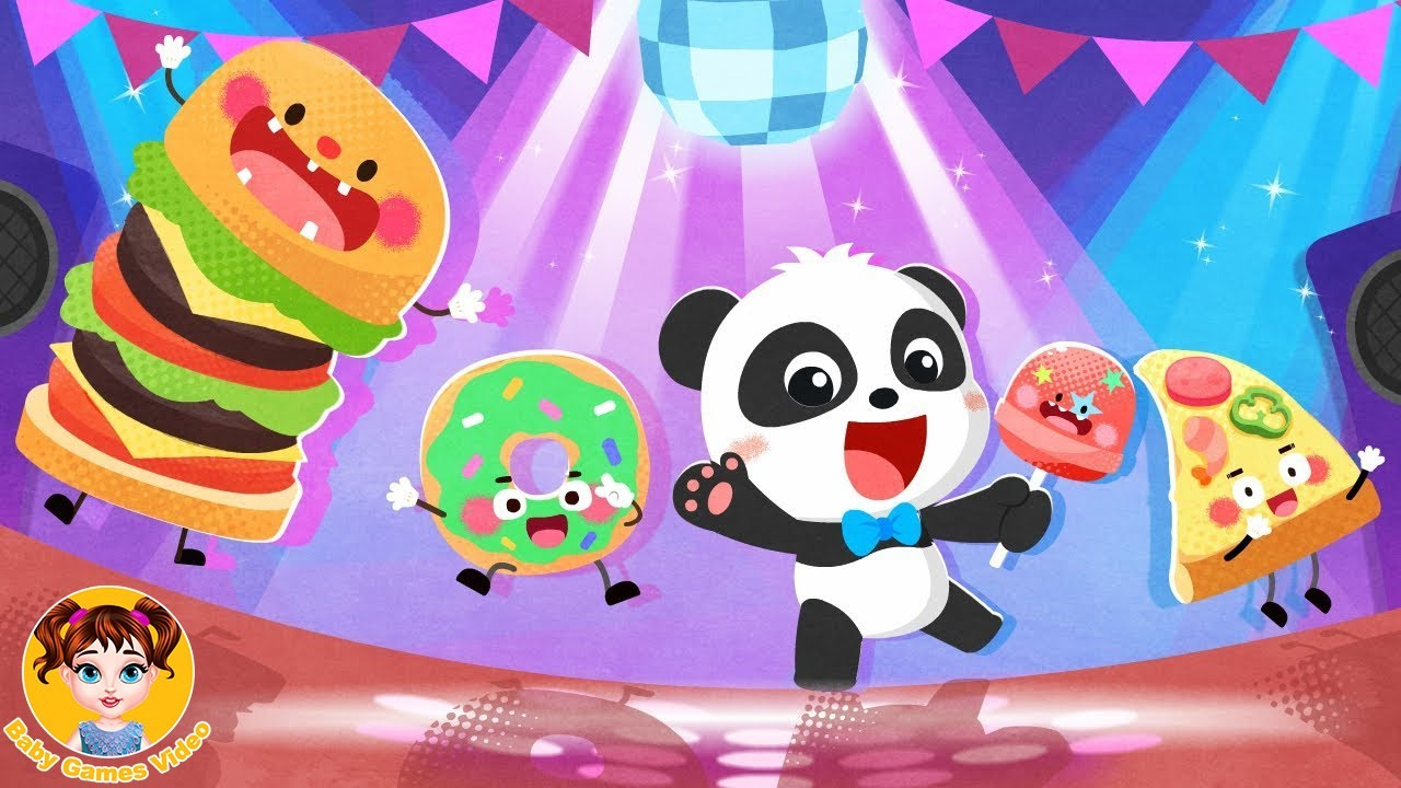 Baby Panda's Food Party Dress Up - BabyBus Kids Games - Baby Games Videos