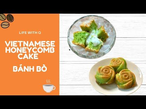 Bánh Bò Nướng Rễ Tre xốp dẻo thơm. Ăn là Ghiền. Vietnamese honeycomb cake.