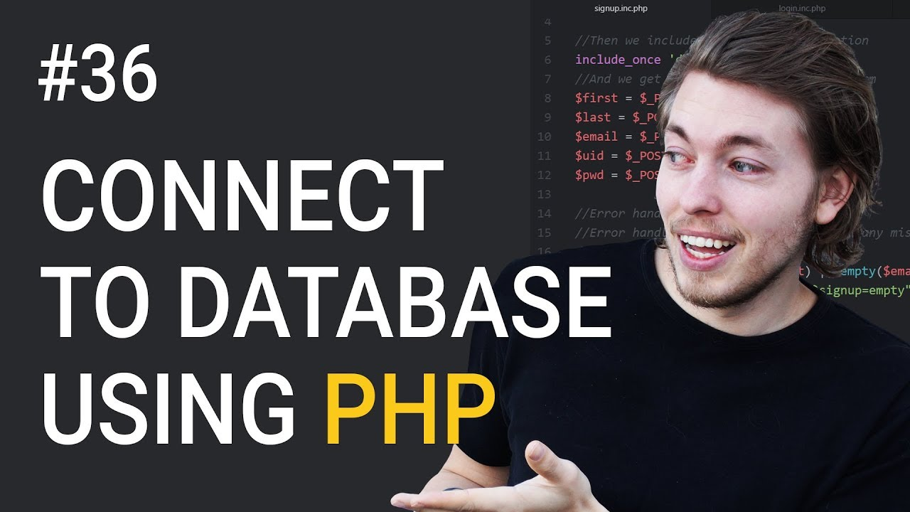 36: How to connect to a database in PHP | PHP tutorial | Learn PHP programming