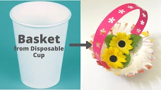 Beautiful Basket from Disposable Glass #Shorts #Jugaad