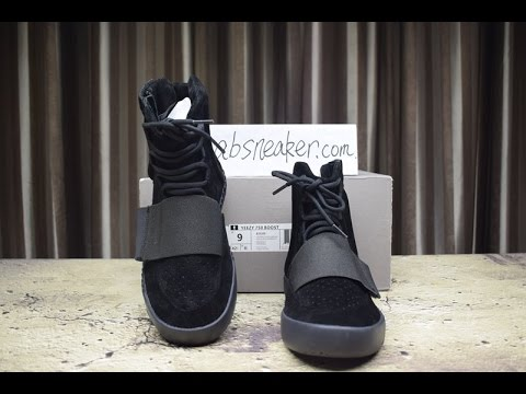 9aa38eaec Kanye West - Adidas Yeezy Boost 750 Triple Black Detail Review - YouTube