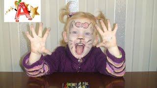 Аквагрим для детей. Рисуем кошечку на лице. Akvagrim for children. Draw a cat on his face.(Аквагрим для детей. Рисуем кошечку на лице. Заряд позитива и хорошее настроение вам обеспечены! Akvagrim for..., 2016-01-11T10:58:25.000Z)