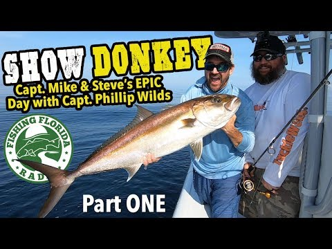 DONKEY SHOW - GIANT AMBERJACK Part 1 - Saltwater Fishing With Capt. Phil Wilds - Panama City FL