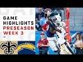 Saints vs. Chargers Highlights | NFL 2018 Preseason Week 3