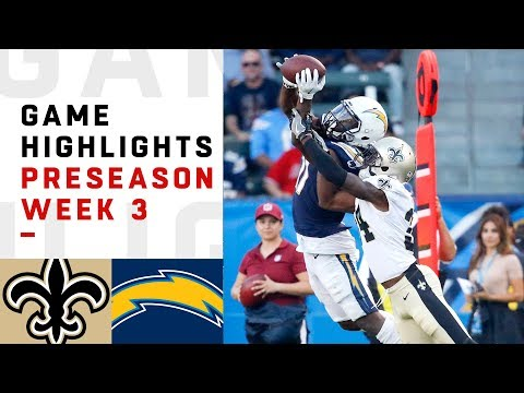 Saints vs. Chargers Highlights | NFL 2018 Preseason Week 3