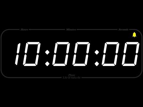 10 Hour - TIMER & ALARM - 1080p - COUNTDOWN