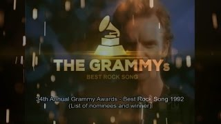 BEST ROCK SONG | 34th GRAMMYs 1992 (List of nominees and winner)
