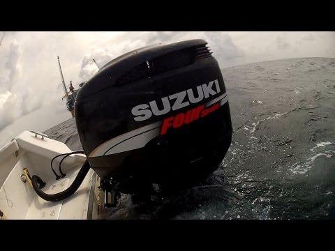 SUZUKI DF250 TWINS!!! RUNNING OFFSHORE