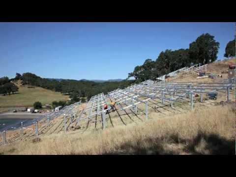 Jordan Winery Solar Panel Array Installation - The Build, Part 2 - Time Lapse Teaser