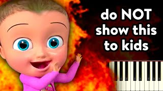 Show this video to your kids! (Johny Johny Yes Papa Piano Tutorial) 2019
