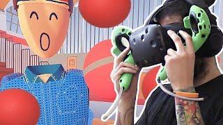 WORST DODGEBALL EVER - REC ROOM HTC Vive Virtual Reality