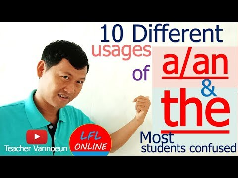 Articles (a, an, the) - Rules For Using Articles Correctly - English Grammar