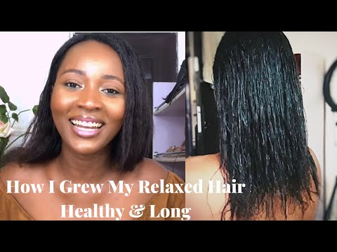 How To Grow Relaxed Hair Healthy & Long In 2020