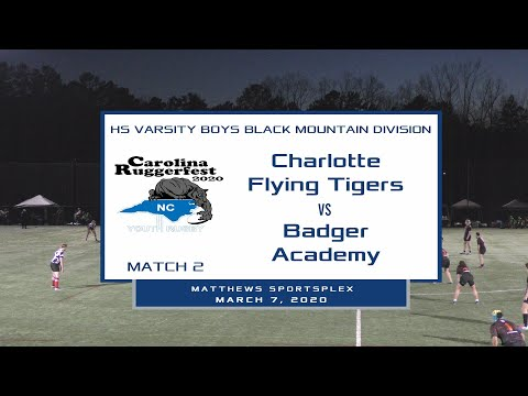 2020 Ruggerfest Match 2 - Flying Tigers vs Badger Academy