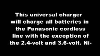 Panasonic EY0214B 7.2 to 24-Volt Pod Style 55 Minute Battery Charger