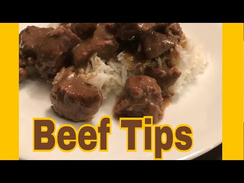 Beef Tips And Brown Gravy Over Rice!!!