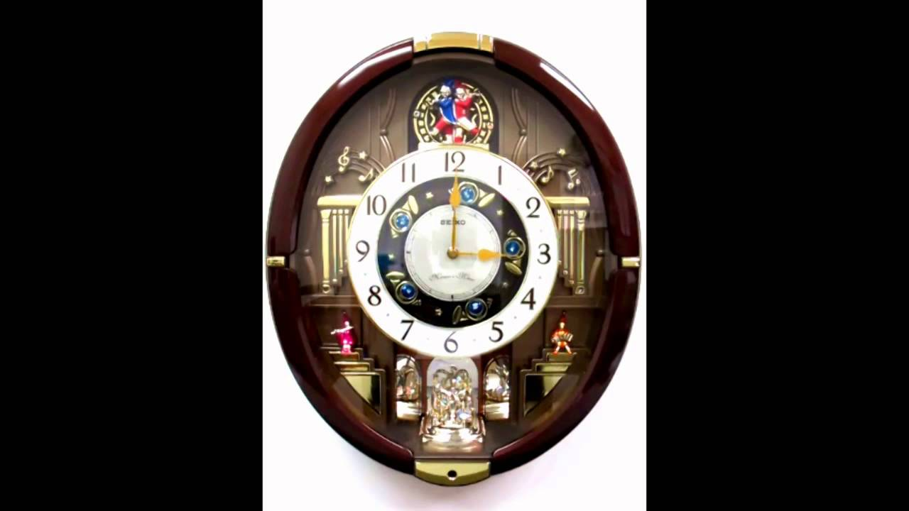 Qxm488brh seiko melodies in motion wall clock youtube amipublicfo Images