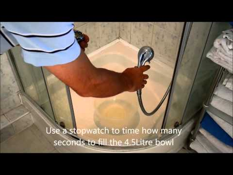 Test your shower head flow rate