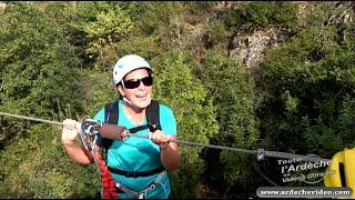 Ardèche - La Via Ferrata du Pont du diable