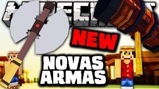Minecraft: NOVAS ARMAS ATUALIZAÇÃO (Battle Axe & Attitude Adjuster) - Orespawn Mod
