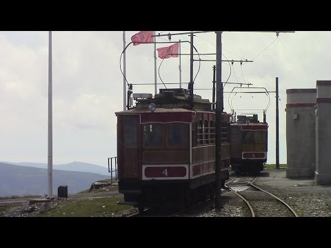 Snaefell Mountain Railway Summit to Laxey Isle of Man