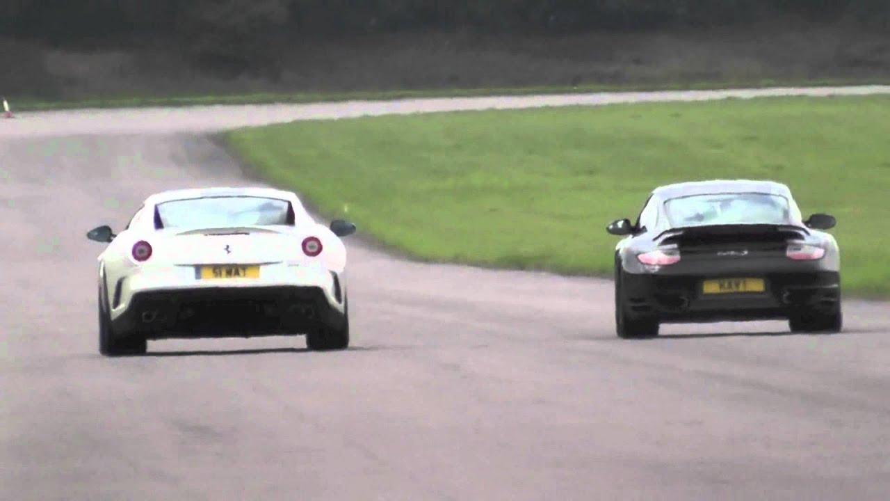 Ferrari 599 GTO vs Porsche 997 Turbo S - YouTube