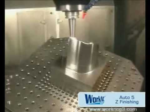 CNC Automatic CAD/CAM 5 axis Z finishing-machining