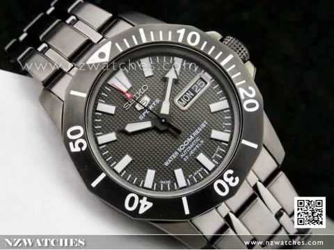 Seiko 5 sports automatic 100m men 39 s dive watch snzf85 snzf85j1 made in japan youtube for Watches japan
