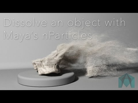 Maya - Basic Particle Dissolve Effect
