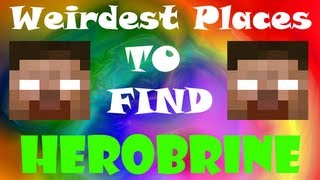 5 Weirdest Places to find Herobrine - Minecraft