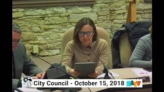 Batavia City Council Meeting on October 15, 2018 thumbnail