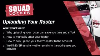 Step 5: Uploading Your Roster