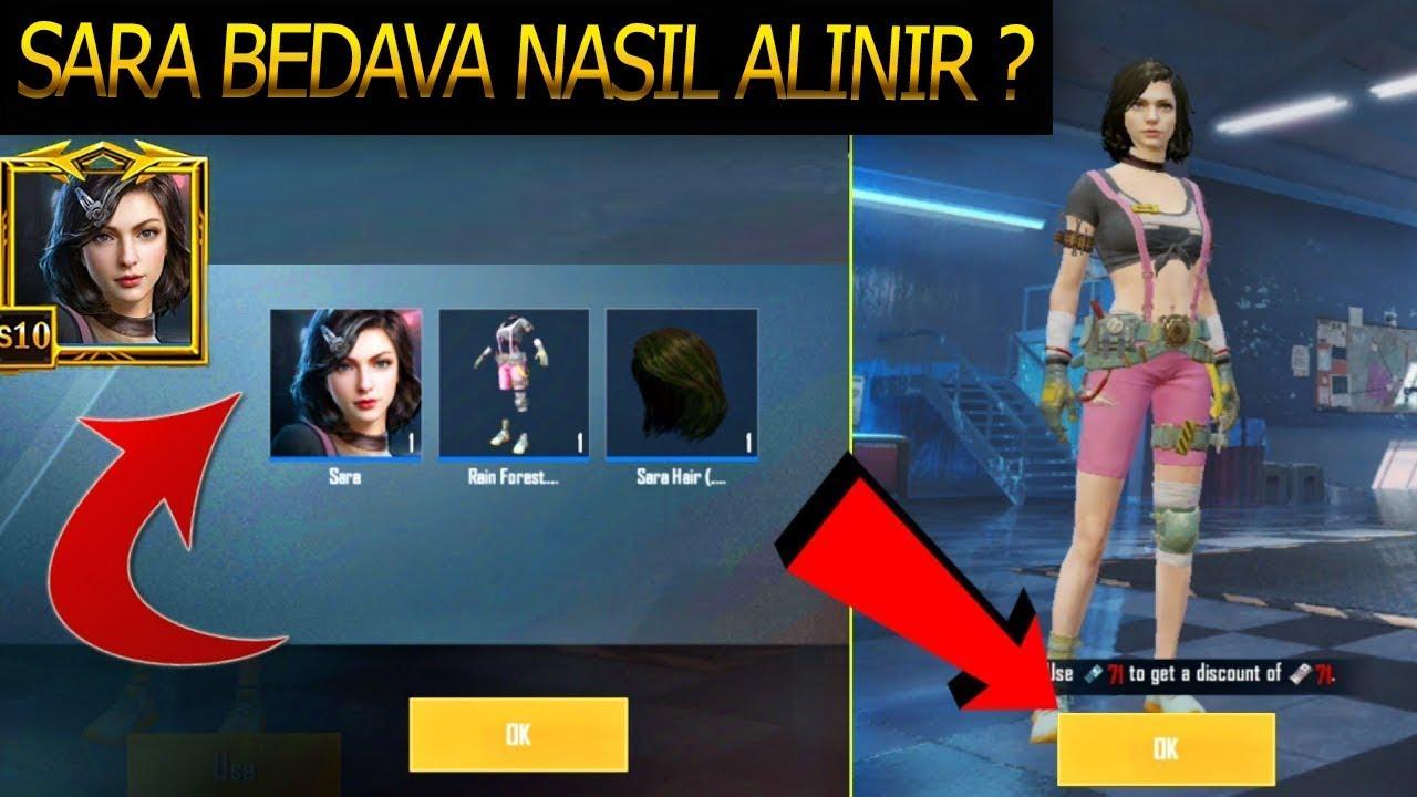 SARA BEDAVA NASIL ALINIR ? - PUBG Mobile Sara Character