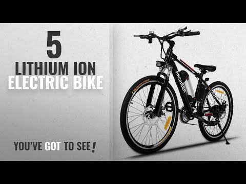 Top 10 Lithium ION Electric Bicycles: ANCHEER Electric Mountain Bike with 36V, 8AH Removable