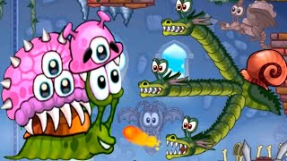 Snail Bob 2 - Gameplay Walkthrough Part 5 - Snail Bob Vs 3 Head Snail Dragon Boss