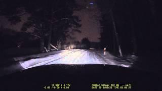 FineVu CR500HD kamera | Žiema naktis miške | VairuojuFilmuoju.LT