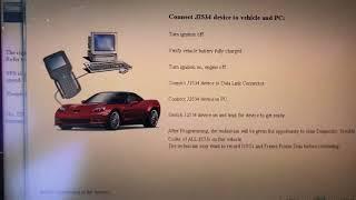 Gm gmc Chevrolet j2534 programming sps service programming reflash Bosch mastertech mvci mdi