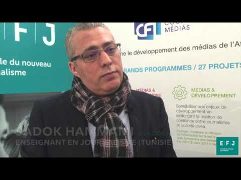 Interview Sadok Hammami, enseignant en journalisme (Tunisie) à #4MParis