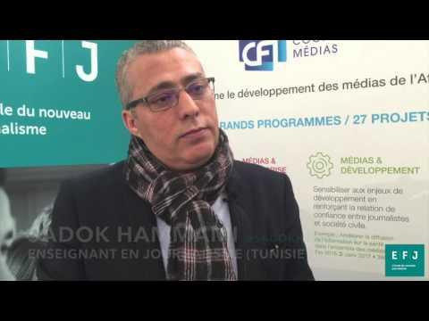 Interview Sadok Hammami, enseignant en journalisme (Tunisie) à #4MParis