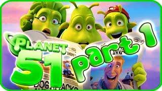 Planet 51 Walkthrough Part 1 (PS3, Xbox 360, Wii) - Movie Game
