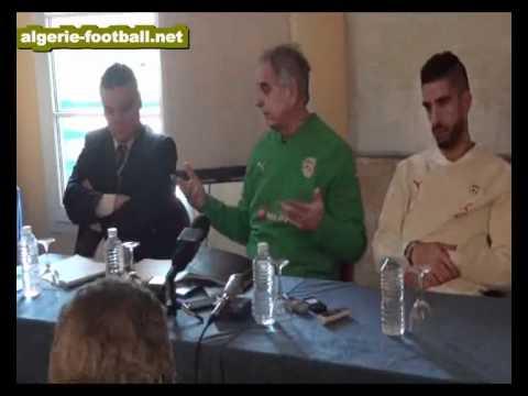 Algérie : Conférence de Presse d'Halilhodzic à Lisses ( algerie-football.net)