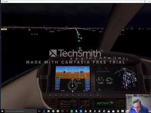 XPlane 10 - Cirrus The Jet - Flight 1 - Vancouver Night Flight VFR